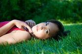 Beautiful girl dreaming — Stock Photo