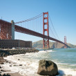 Stock Photo: Golden Gate Bridge Beach in San Francisco