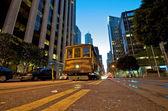 San Francisco Cable Car evening — Stock Photo