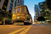 San Francisco Cable Car at night — Stock Photo