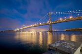 San Francisco Bay Bridge at night — Stock Photo