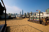 Beach in the city — Stock Photo