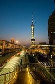 Pudong at Night — Stock Photo