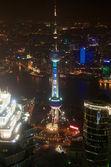 Shanghai Pearl Tower at night — Photo