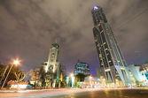 Centro de la ciudad de shanghai en la noche — Foto de Stock