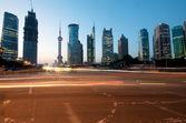 China Shanghai Skyline — Stock Photo