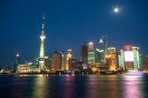 Skyline di shanghai di notte — Foto Stock