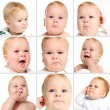 Baby face expression - Stock Photo