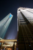 SWFC and Jin Mao Tower At Night — Stock Photo