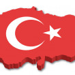 3D Turkey map with flag — Stock Vector #10562643