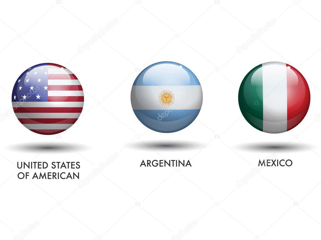 Mexico y Estados Unidos Banderas Banderas de Estados Unidos de