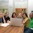 Group of Students in Student lounge - Stock Photo