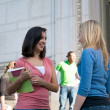 Life on University Campus — Stock Photo