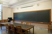 Empty Classrooms with blackboard — Stock Photo
