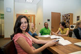 Group of Students in Student lounge — Stock Photo