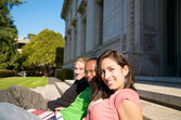 Multicutural Students on campus — Stock Photo