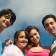 Teenager Friends Blue Sky — Stock Photo