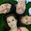 Friends lying on ground — Stock Photo