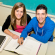 Stock Photo: College students in classroom