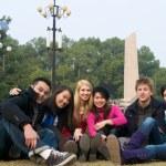 estudante de estudo no exterior — Foto Stock