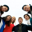 Group of Students in Circle — Stock Photo