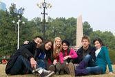 Study abroad student — Stock Photo