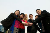 Group of Students team spirit — Stock Photo