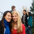 Female Students Friends — Stock Photo