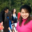 Asian Student smiling — Foto Stock