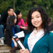 Stock Photo: Study abroad Asian Student