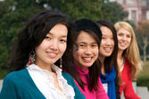 Multicultural female students — Stock Photo