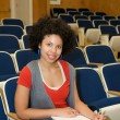 African American studying in lecture hall — Stock Photo #8533474