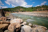 Beautiful River California — Stock Photo