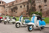 Old italian scooters — Stock Photo