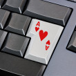 Stock Photo: Ace of hearts