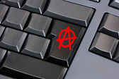 Anarchy key — Stock Photo