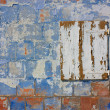 Stock Photo: Colored grunge wall