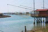 Fishing shacks — Stock Photo