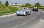 Mr Bean (Rowan Atkinson) at Mille miglia 2011 — Stockfoto