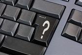 Question mark on black enter key — Stock Photo