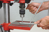 Bench drill — Stock Photo