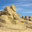Sand sculpture - Stock Photo