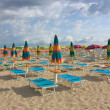 Umbrellas on the beach — Foto Stock