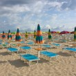 Umbrellas on the beach — Stock fotografie
