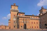 Castillo estense de ferrara — Foto de Stock