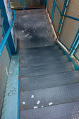 Dirty metal stairs — Stock Photo