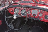 Classic car interior — Stock Photo