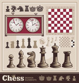 Elementi di design di scacchi — Vettoriale Stock