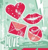 Love tasarım öğeleri — Stok Vektör