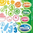 Drink labels and icons - Stock Vector